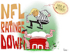 Cartoon: NFL Ratings Down (small) by NEM0 tagged nfl national football league ratings donald trump refree patriotic unpatriotic disrespect flag us usa nemo nem0