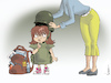 Cartoon: School Ready (small) by NEM0 tagged back,to,school,education,hardened,secured,security,guns,gun,control,culture,shootings,violence,kids,children,mom,girl,students,second,amendment,right,bear,arms,nemo,nem0