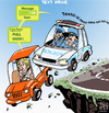 Cartoon: Text Drive (small) by NEM0 tagged accident,accidents,cars,autos,car,driver,drivers,auto,cell,phone,cop,cops,danger,distraction,driving,phones,text,texts,texter,texters,message,mobile,police,patrol,road,ride,smart,texting