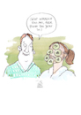 Cartoon: Maske (small) by Koppelredder tagged gurken,maske,gurkenmaske,beauty,schönheit,wellness,beziehung,haut,bad