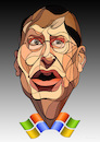 Cartoon: Bill Gates (small) by Wesam Khalil tagged bill,gates,internet,multimedia,technology,windows,system,technologie,computer,software