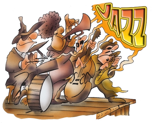 Cartoon: Jazz (medium) by HSB-Cartoon tagged jazz,music,jazzmusik,soul,festival,event,musik,jazzer,drums,saxophon,trompete,bass,musikinstrument,musiker,violin,double,musiknote,blues,melody,song,musikstück,cartoon,cartoonist,jazz,music,jazzmusik,soul,festival,event,musik,jazzer,drums,saxophon,trompete,bass,musikinstrument,musiker,violin,double,musiknote,blues,melody,song,musikstück,cartoon,cartoonist