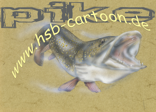 Cartoon: pike (medium) by HSB-Cartoon tagged tackle,angeln,fishing,fisch,fish,hecht,pike,airbrushillustration,airbrush,freshwater,bait,köder,lure,hook,fischillustration,pike,hecht,fish,fisch,fishing,angeln,tackle,hook,lure,köder,bait,freshwater,airbrush,airbrushillustration,fischillustration