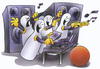 Cartoon: bowling party (small) by HSB-Cartoon tagged bowling,kegel,party,fete,bowlingparty,kegelparty,music,musik,cd,lp,hsb,cartoon,caricature,karikatur,airbrush