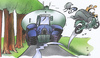 Cartoon: country lane (small) by HSB-Cartoon tagged strasse,trecker,traktor,mofa,roller,weg,landwirtschaft,gülle,agrar,cartoon,caricature,karikatur,airbrush