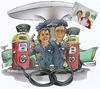 Cartoon: couple on the patrol station (small) by HSB-Cartoon tagged patrol,station,couple,marriage,car,caricature,hsbcartoonde,hsbfaktoryde,airbrush,airbrushwork,airbrushart