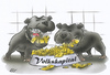 Cartoon: den Hunden zu Fraß (small) by HSB-Cartoon tagged gog,food,money,cartoon,caricature,airbrush,volk,geld,hund,kampfhunde