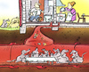Cartoon: diner for rats (small) by HSB-Cartoon tagged rats,house,living,sewagesystem,drain,cartoon,caricature,airbrush