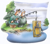 Cartoon: fishing technic (small) by HSB-Cartoon tagged fish,fishing,fishingcartoon,bait,hook,fishhook,mousetrap,water,lake,sea,angeln,angelsport,angler,anglercartoon,mausefalle,airbrush