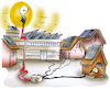 Cartoon: Fotovoltaik (small) by HSB-Cartoon tagged energy,hot,photovoltaik,sun,sunny,warm,weather,airbrush,cartoon,elektrik,elektrisch,energie,energiegewinnung,erneuerbare,energien,fotovoltaik,hsb,hsbc,hsbcartoon,hundehütte,illustration,karikatur,pv,regenerativ,sommer,sommerwetter,sonne,sonnenenergie,sonnenschein,sonnig,strom,stromerzeugung,wärme