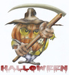 Cartoon: halloween (small) by HSB-Cartoon tagged halloween,pumpkin,horror,scythe,grausen,sense,kürbis,cartoon,cartoonmotiv,halloweenmotiv,hsbcartoon