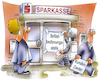 Cartoon: Kundenservice bei Banken (small) by HSB-Cartoon tagged bank,banken,sparkasse,spardaka,volksbank,commerzbank,deutsche,bankfiliale,kundendienst,kundenservice,bankautomat,kasse,bankservice,sparbuch,bankschalter,bänker,girokonto,bankkonto,kundenfreundlich,sparkassenmitarbeiter,cartoon,cartoonzeichner,bankkunde,kassierer,geld,geldautomat,filiale