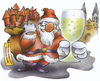 Cartoon: merry Christmas (small) by HSB-Cartoon tagged xmas,christmas,santa,claus,newyeareve,new,year,eve,present,sekt,neujahr,sylvester,weihnachten,nikolaus,weihnachtsmann,geschenke,airbrush,airbrushillustration,airbrushcartoon