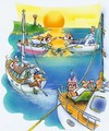 Cartoon: relax (small) by HSB-Cartoon tagged sea,ocean,sailing,sailboat,ship,boat,relax