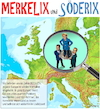 Cartoon: Merkelix und Söderix (small) by Cartoonfix tagged merkelix,und,söderix