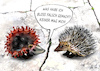 Cartoon: Keiner mag mich (small) by jakpet tagged corona,covid19,tiere,tierliebe,antipathie,virus,igel