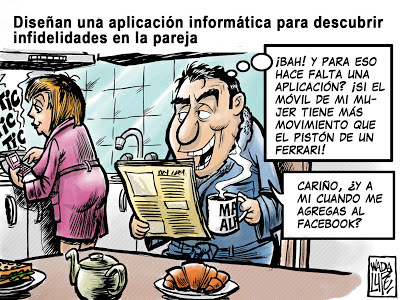 Cartoon: agregame al facebook (medium) by Wadalupe tagged facebook,internet,parejas,matrimonio
