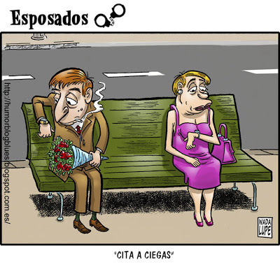 Cartoon: blind date (medium) by Wadalupe tagged blind,date,cita,internet,facebook,messenger