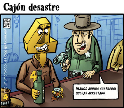Cartoon: hands up!! (medium) by Wadalupe tagged western,cuatrero,sheriff
