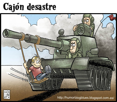Cartoon: juguete belico (medium) by Wadalupe tagged guerra,juguete,tanque