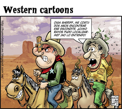 Cartoon: olfato de sheriff (medium) by Wadalupe tagged western,far,west,sheriff