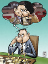 Cartoon: bullfighter chessplayer (small) by Wadalupe tagged bullfighter chess player tournament sport thinking