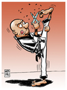 Cartoon: karate chas! (small) by Wadalupe tagged karate,artes,marciales,kung,fu,deporte,salud,asepcia,pirueta