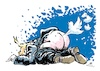 Cartoon: The Tweeter (small) by gkuehn tagged trump,twitter,tweets