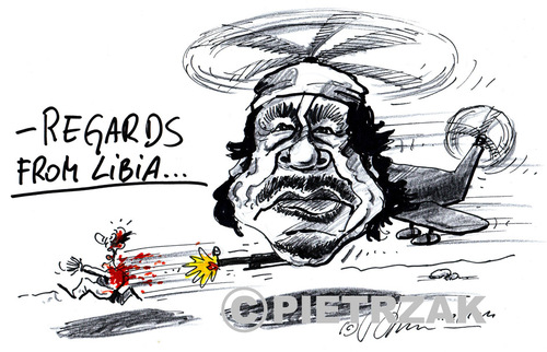 Cartoon: Muammar Kaddafi (medium) by Darek Pietrzak tagged kaddafi,caricature