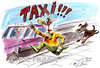 Cartoon: Taxi (small) by Darek Pietrzak tagged humour,auto,taxi,dog