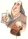 Cartoon: Benjamin Franklin (small) by dotmund tagged benjamin,franklin