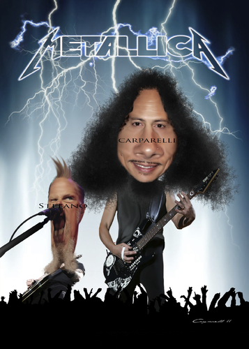 Cartoon: Metallica (medium) by carparelli tagged caricature