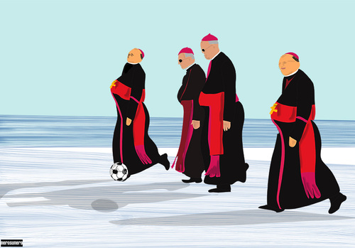 Cartoon: 4 Irish Bishops (medium) by nerosunero tagged bishops