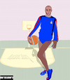 Cartoon: Monsieur Thierry Henry (small) by nerosunero tagged soccer,france,ireland,football,henry,world,cup,goal