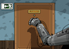 Cartoon: Future is coming (small) by EnricoBertuccioli tagged future,human,beings,robots,robotic,mechanic,automation,industry,society,work,workers,big,data,security,machine,artificial,intelligence,paople,menace,business,politics,economy,science,people,threat,job,environment,behaviour,consumerism,developement,control,global