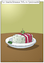 Cartoon: Tofu im Speckmantel (small) by Olaf Biester tagged tofu