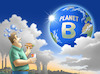 Cartoon: Planet B (small) by Harald Juch tagged umwelt,planet,ökologie,weltuntergang,klimakrise