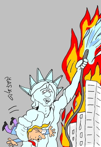 Cartoon: Amerika (medium) by yasar kemal turan tagged amerika
