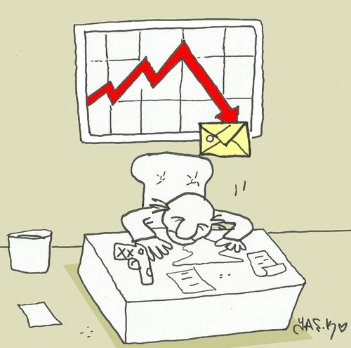 Cartoon: decline (medium) by yasar kemal turan tagged decline