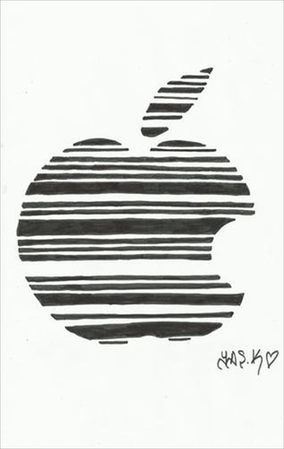 Cartoon: largest economy? (medium) by yasar kemal turan tagged barcode,apple,jobs,iphone,foundedapple