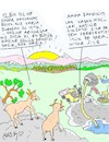 Cartoon: 12 thousand years old lake (small) by yasar kemal turan tagged 12,thousand,years,old,lake