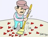 Cartoon: after (small) by yasar kemal turan tagged after,love,valentine,scavenger,heart