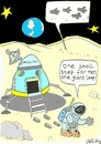 Cartoon: detail!!! (small) by yasar kemal turan tagged big step moon apollo18 astronaut space world human aliens ufo