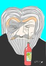 Cartoon: can yücel-wine (small) by yasar kemal turan tagged can,yücel,attack,wine,grave