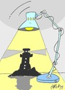 Cartoon: germany turkey Lighthouse case (small) by yasar kemal turan tagged lighthouse,zahid,case,corruption,germany