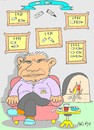 Cartoon: collection-retired (small) by yasar kemal turan tagged collection broken pen execution judge retired