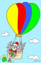 Cartoon: easy (small) by yasar kemal turan tagged easy,love,father,christmas,balloon,gifts