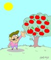 Cartoon: founded Apple (small) by yasar kemal turan tagged founded,apple,worm