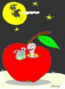 Cartoon: friend (small) by yasar kemal turan tagged friend,love,gift,founded,apple,father,christmas