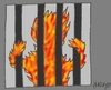 Cartoon: Honduras prisoners (small) by yasar kemal turan tagged honduras prisoners prison fire human rights fascism